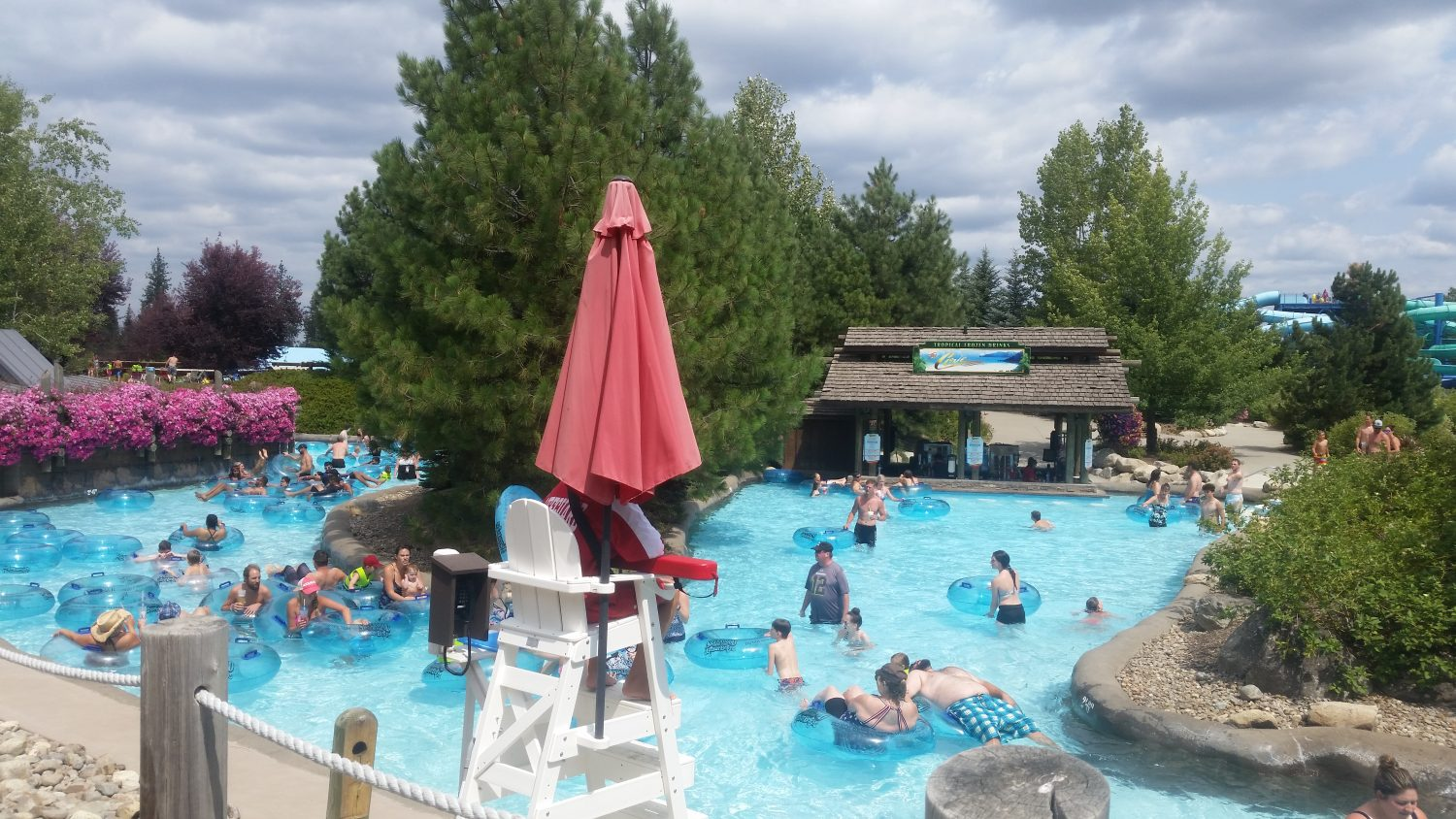 Their Lazy River has a swim-up bar (non-alcoholic drinks available too)