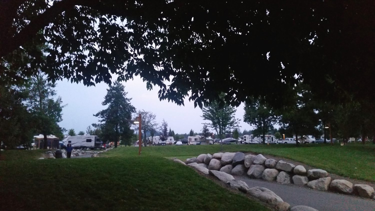 After a day on the waterslides and roller coasters, head back to Silverwood's RV park and make s'mores by the campfire. Photo by author (Nikki Cleveland)