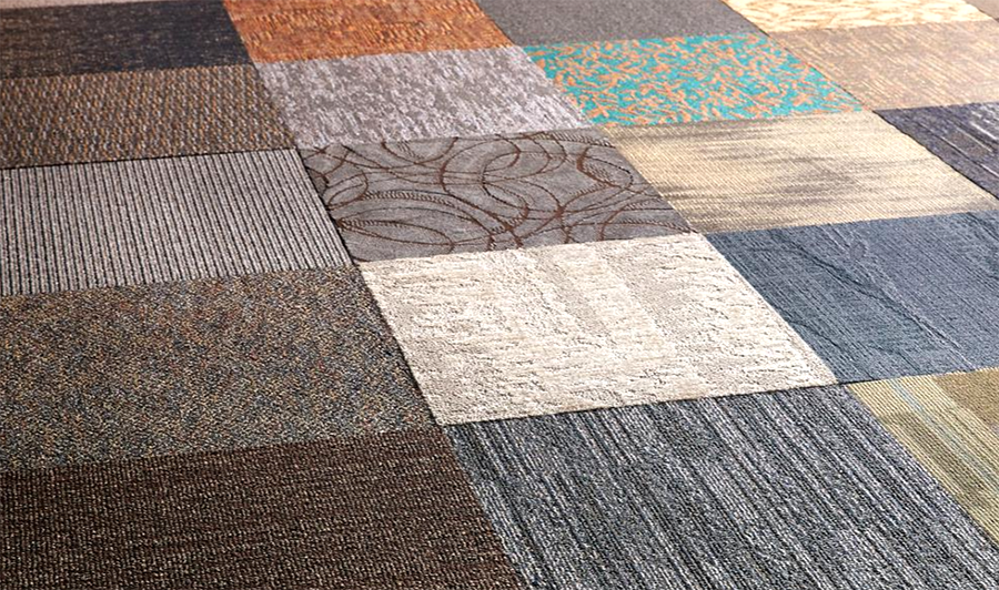 carpet tiles - Photo by Home Depot