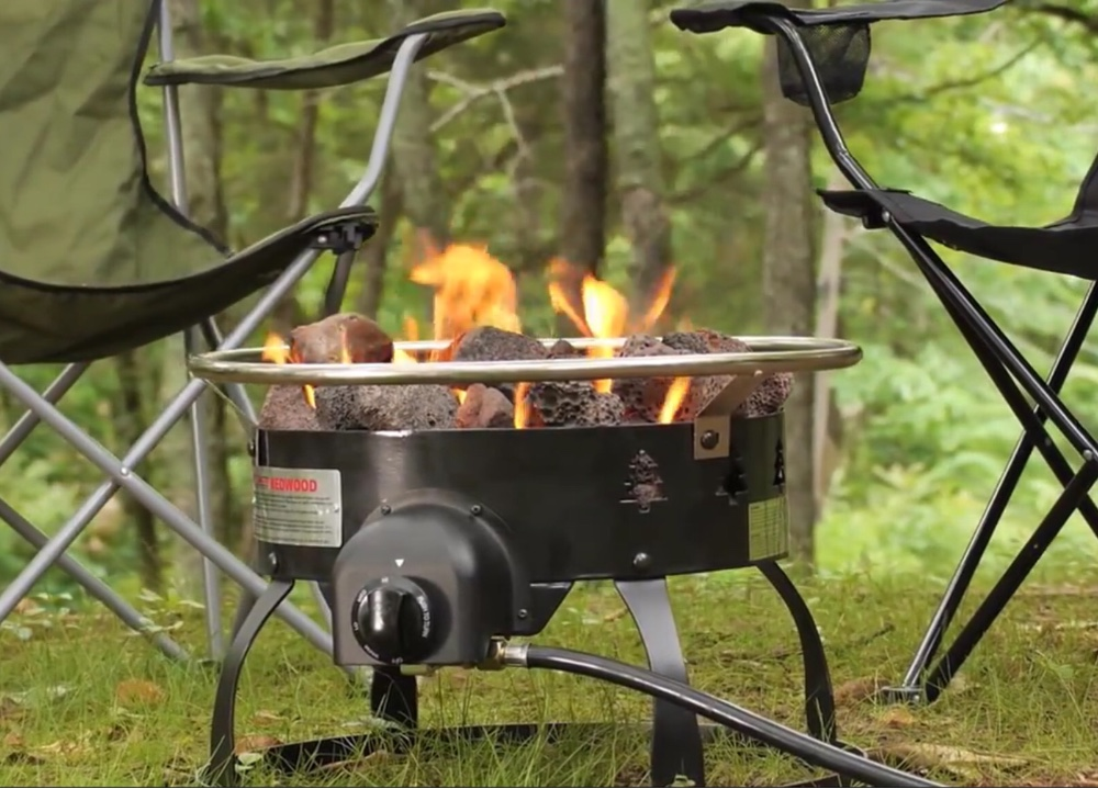 Fire pit for RV