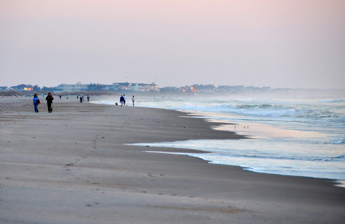 Wrighstville Beach, just east of Wilmington. Photo by James Willamor