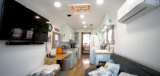 This Old Blue Bird Bus Was Converted Into A Cozy Tiny Home