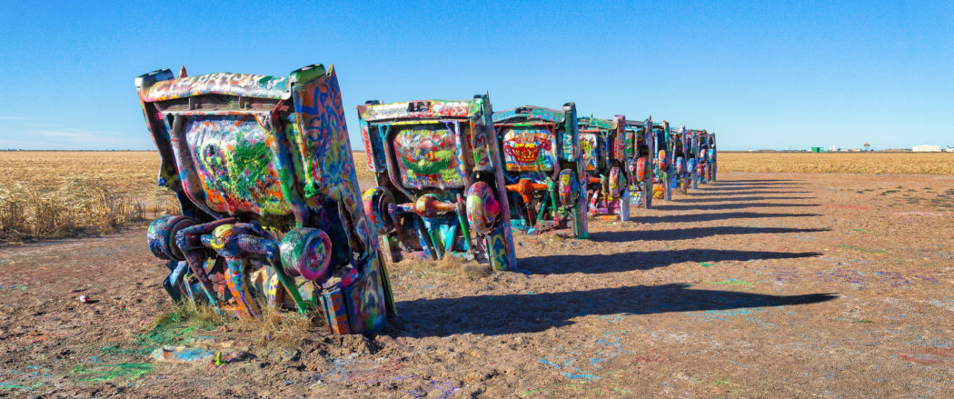 Cadillac Ranch. Photo by Mobilus/Flickr