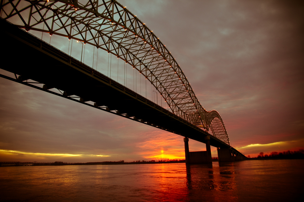 The Hernando de Soto Bridge. Photo by Thomas Hawk