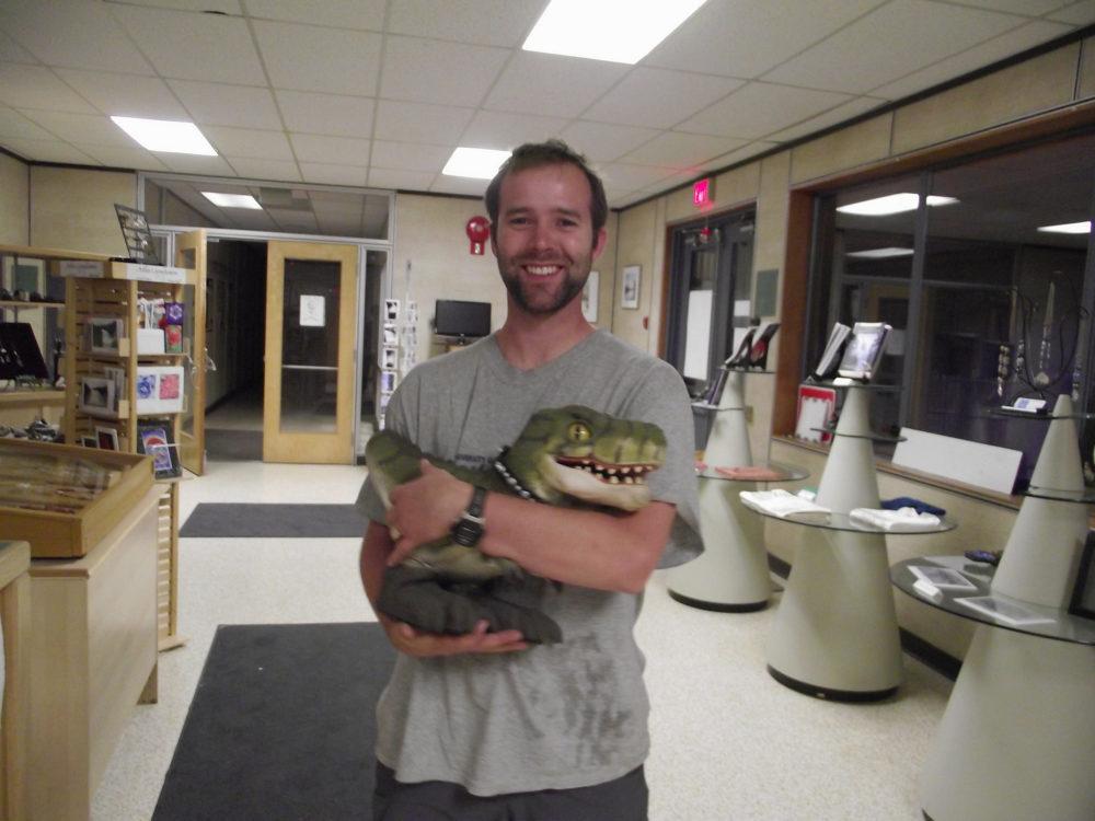 A new friend - baby dinosaur, Tumbler Ridge - photo courtesy of Andrew Kurjata/flickr