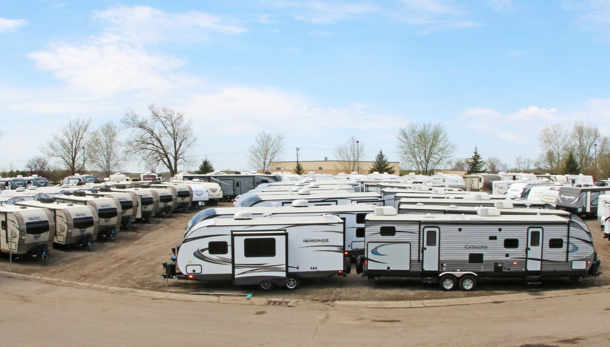 You lose value on your RV as soon as you drive it off the lot. Photo via Coates RV Center on Twitter