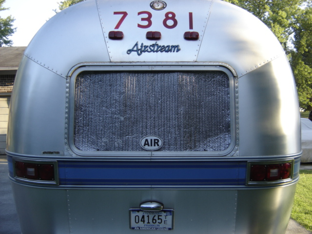 Put Reflectix in the window. Photo by Davidz71 on AirForums