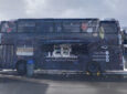 Double-Decker Bus Converted Into Two-Story Mobile Eatery