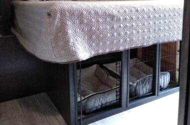 How To Add A Dog Kennel Under Your RV Bed