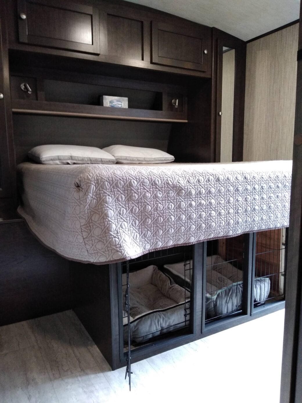 How To Add A Diy Dog Kennel Under Your Rv Bed