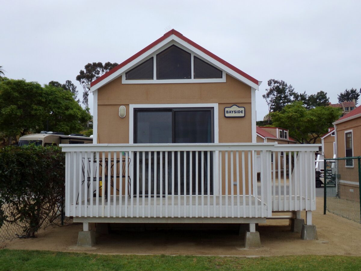 Homey cottages are also available