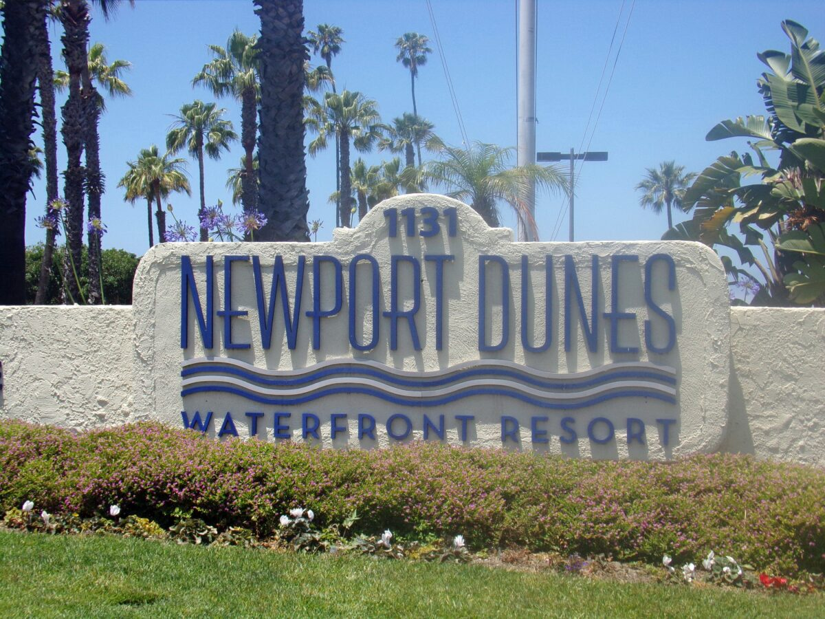 Welcome to Newport Dunes Waterfront Resort. All photos by author (Nikki Cleveland)