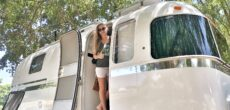 A Look Inside The Renovated Off-Grid Airstream From Drivin' & Vibin'