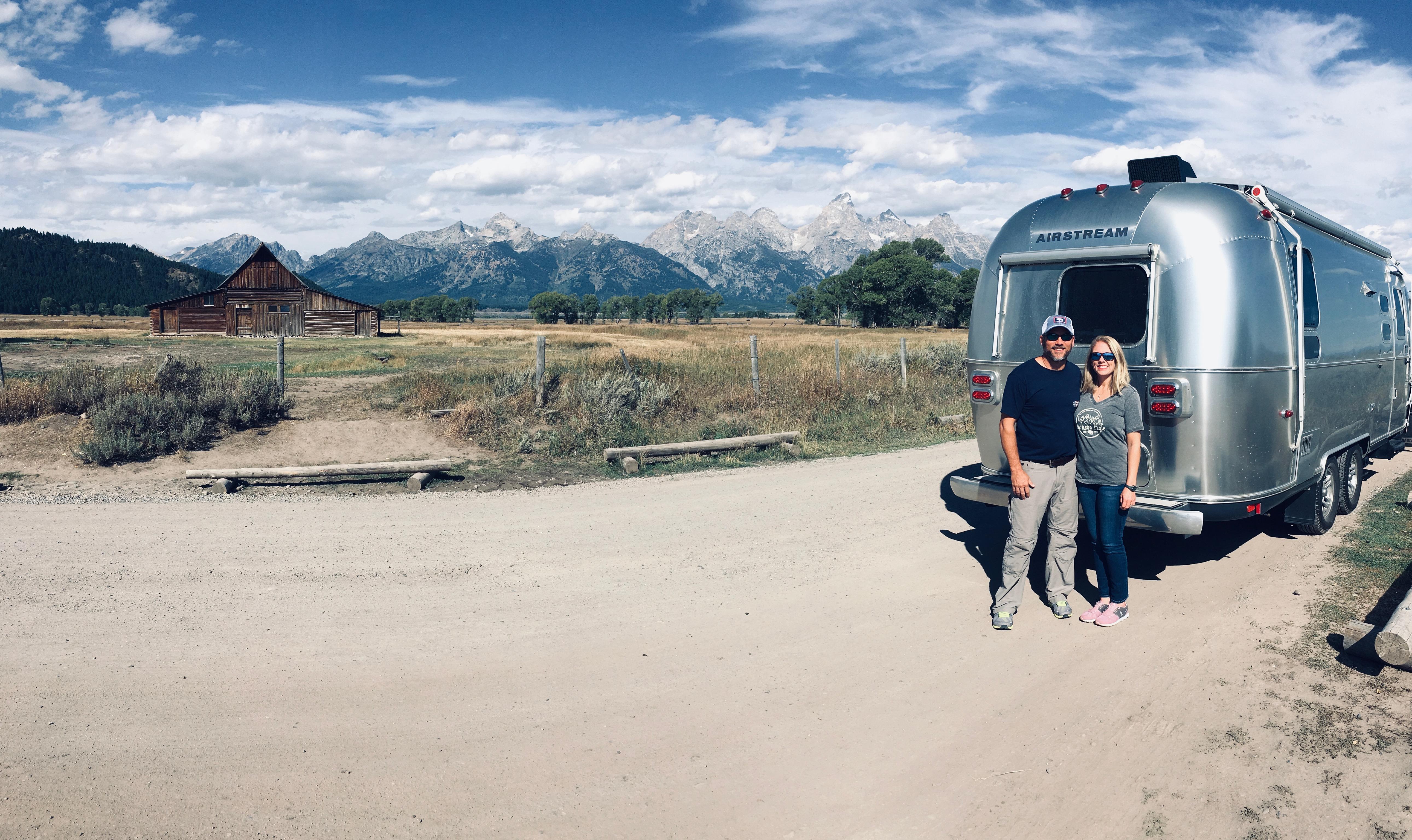 Moulton barn Grand Teton with our Airstream.