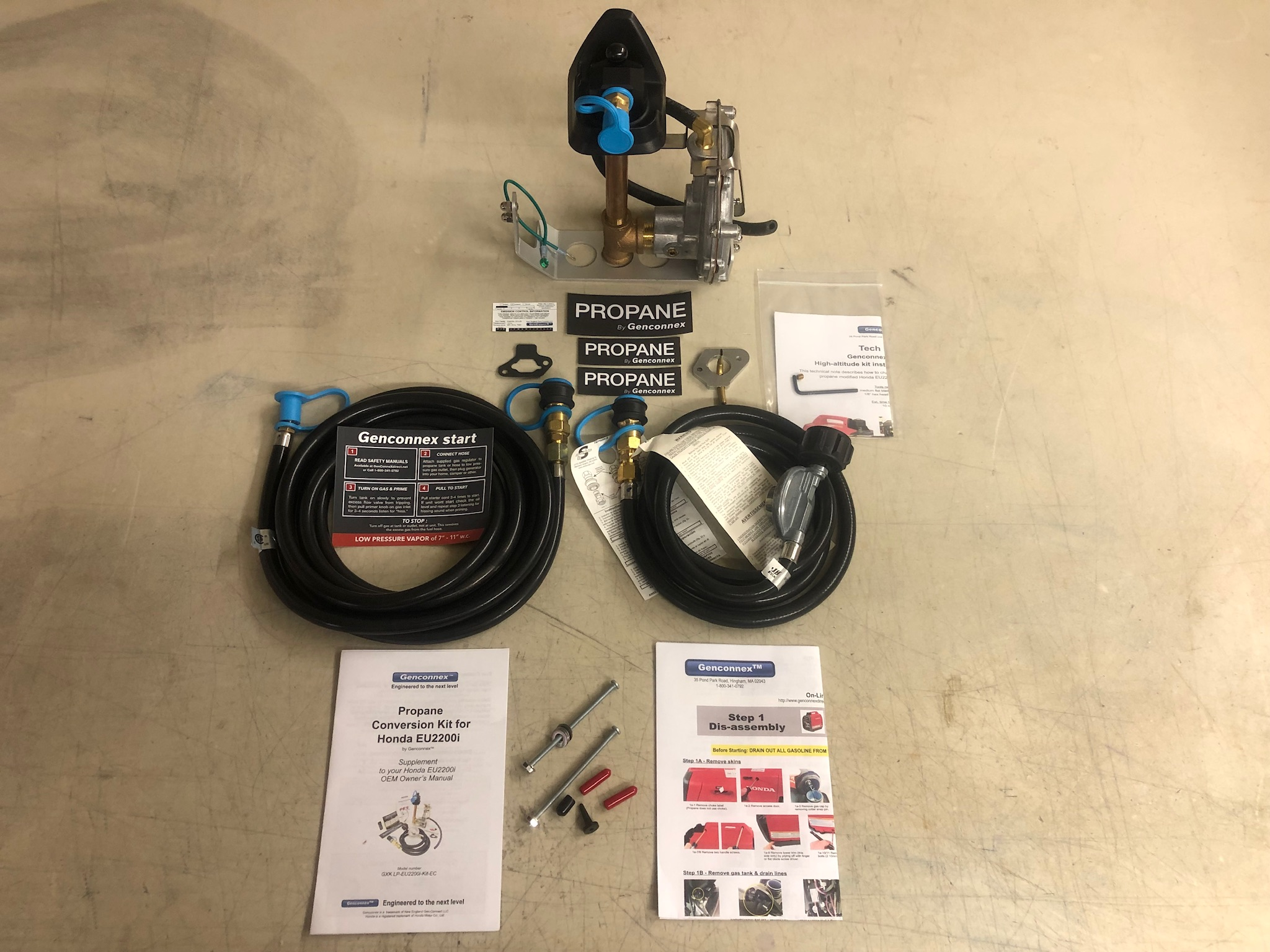 parts included in Genconnex kit