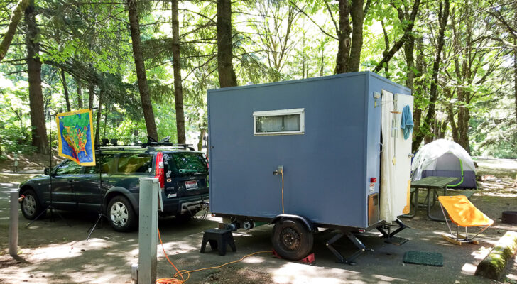 This Solo RVer Built Out The Coziest Homemade Camper