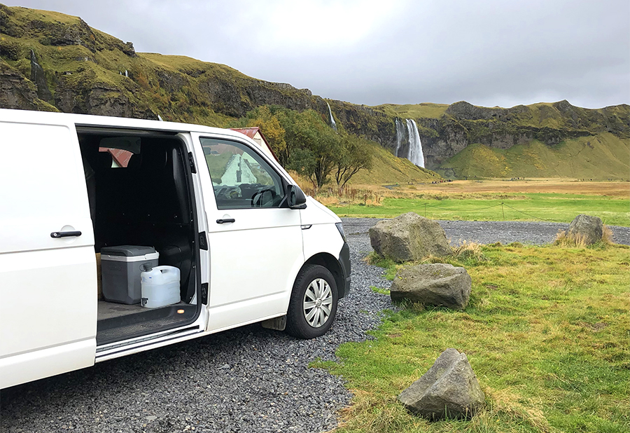 iceland-camping-waterfall
