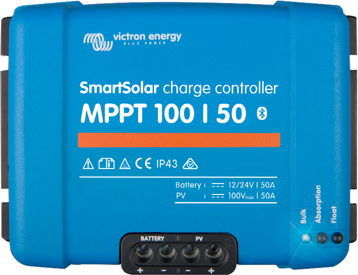 The Victron Smart solar controller has Bluetooth connectivity allowing you to adjust and monitor setting from you smart phone.