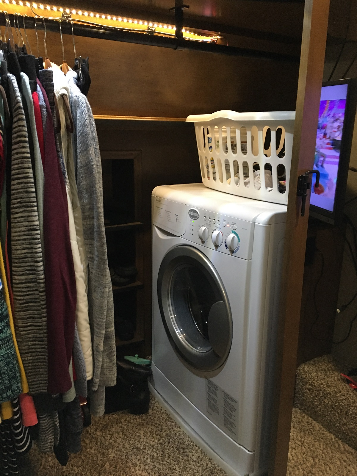storing clothes in an RV
