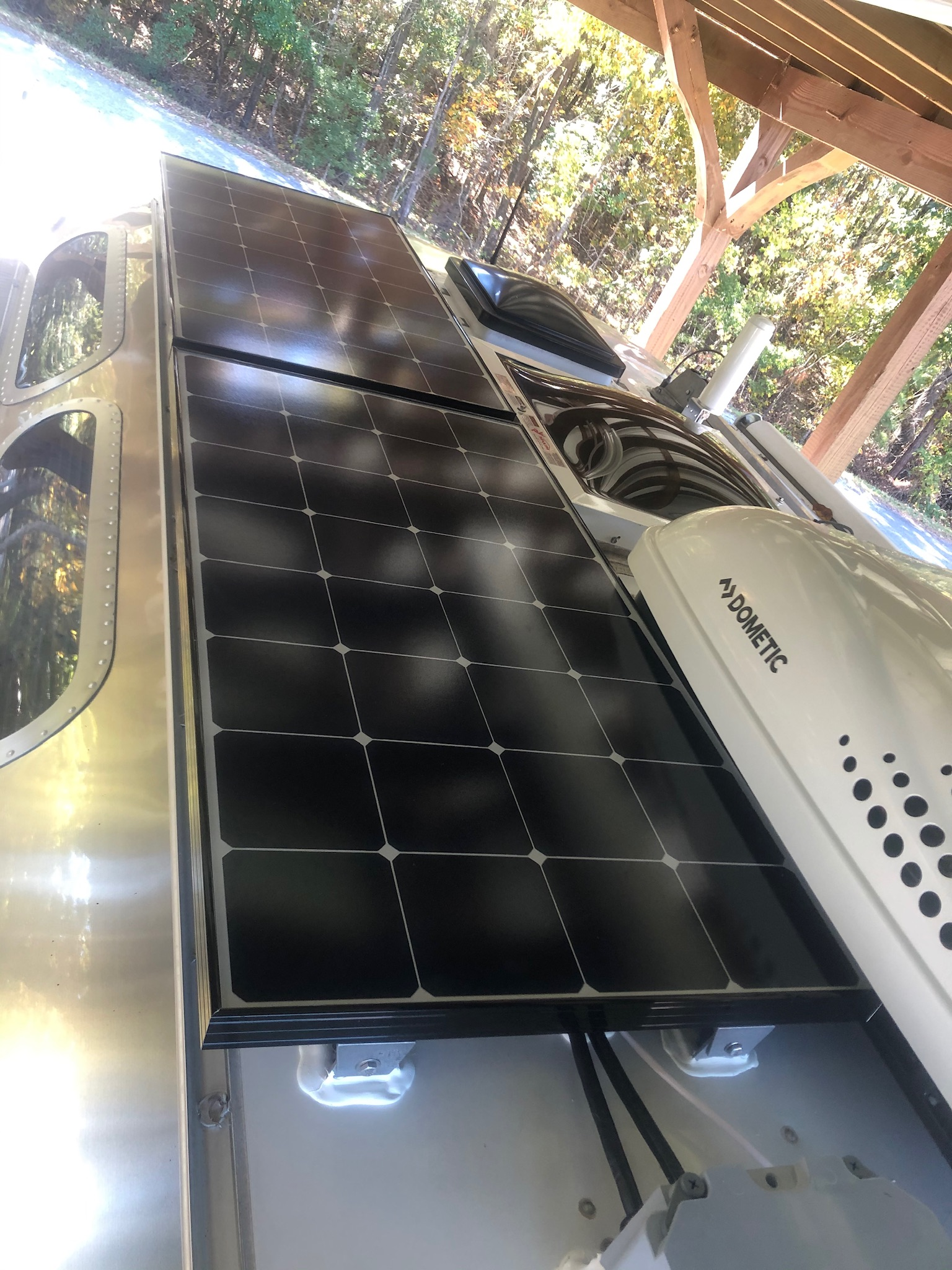Solar panels provide a way to keep your RV batteries charged.