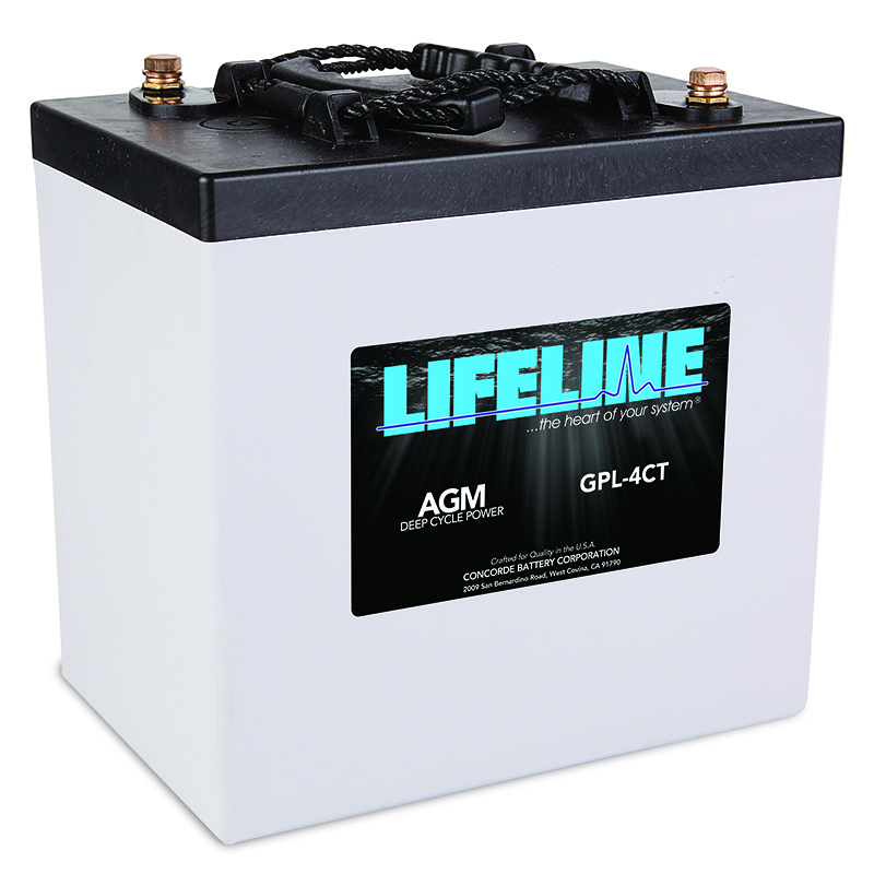 Lifeline AGM batteries provide a reliable means to store power.