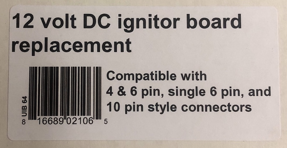 UIB Universal Igniter Board for RV furnaces and water heaters