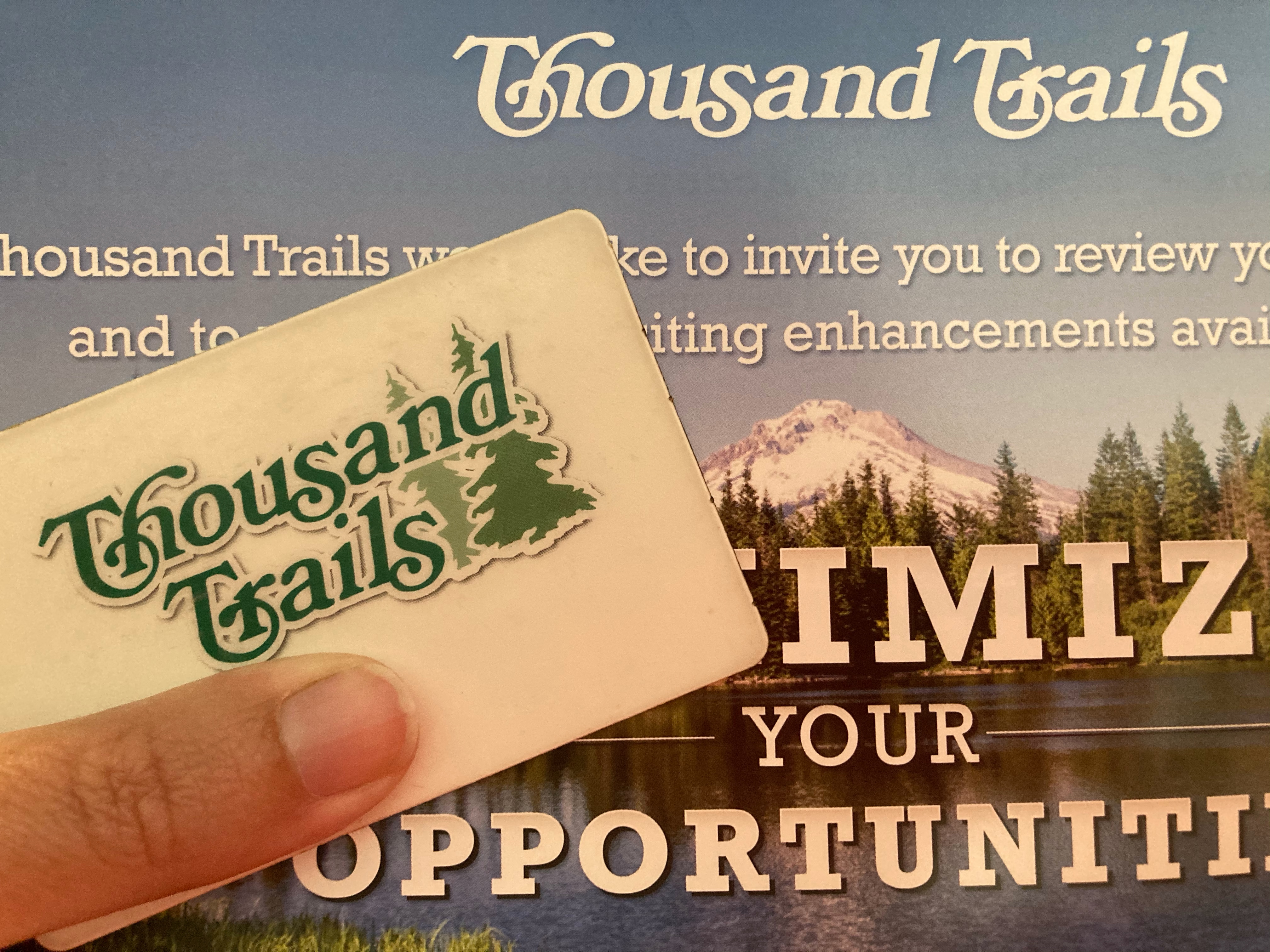 Holding a Thousand Trails Camping Pass