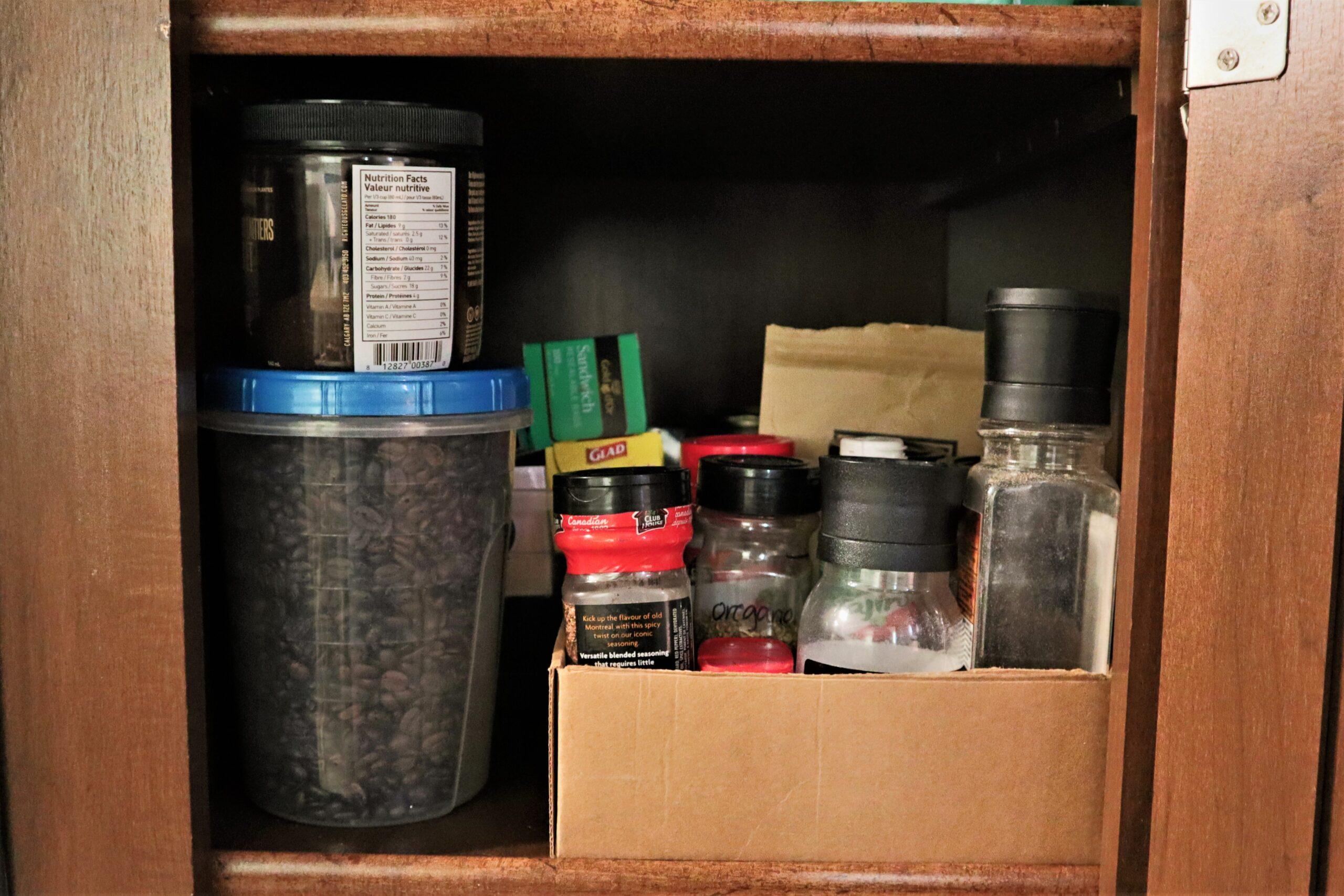 RV organization - pantry storage