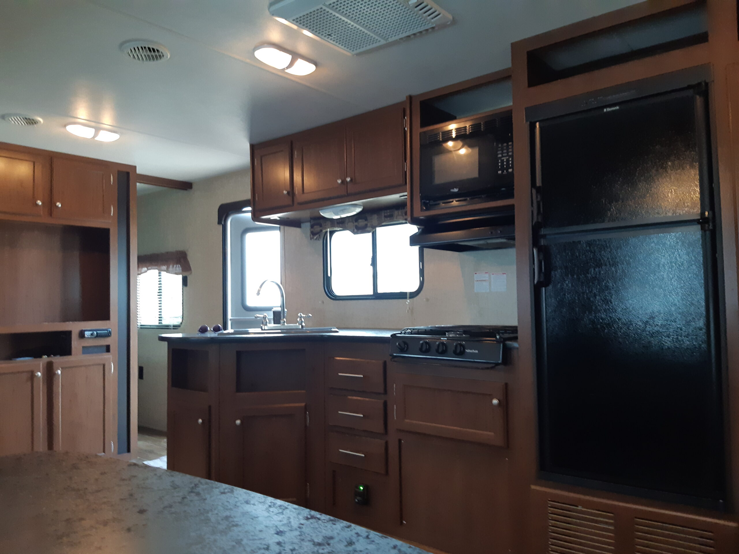 RV renovation - before of the kitchen