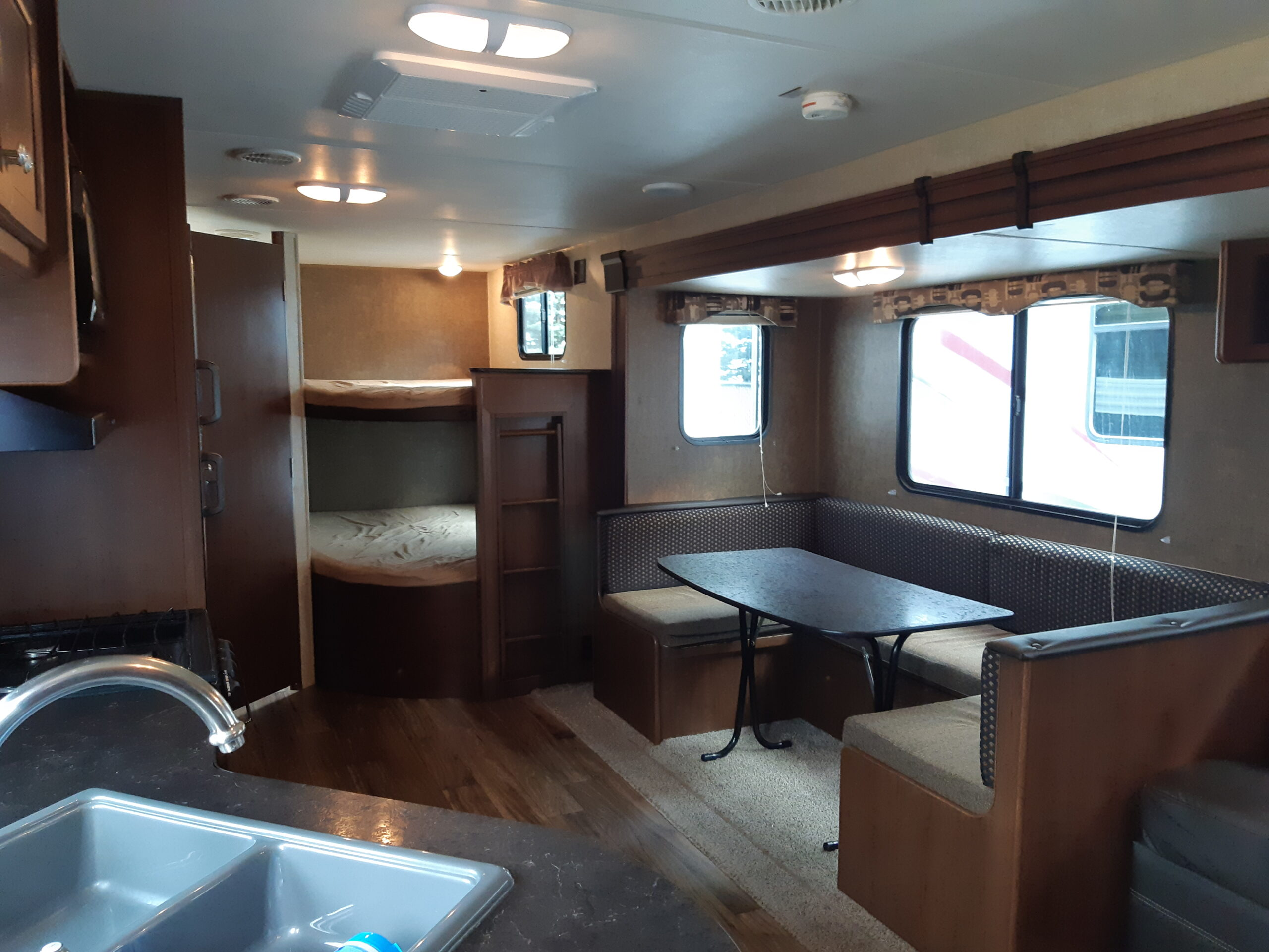 RV renovation - before of main living space