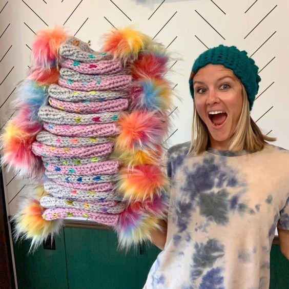 Brooke Happe and her b.e.happe hats