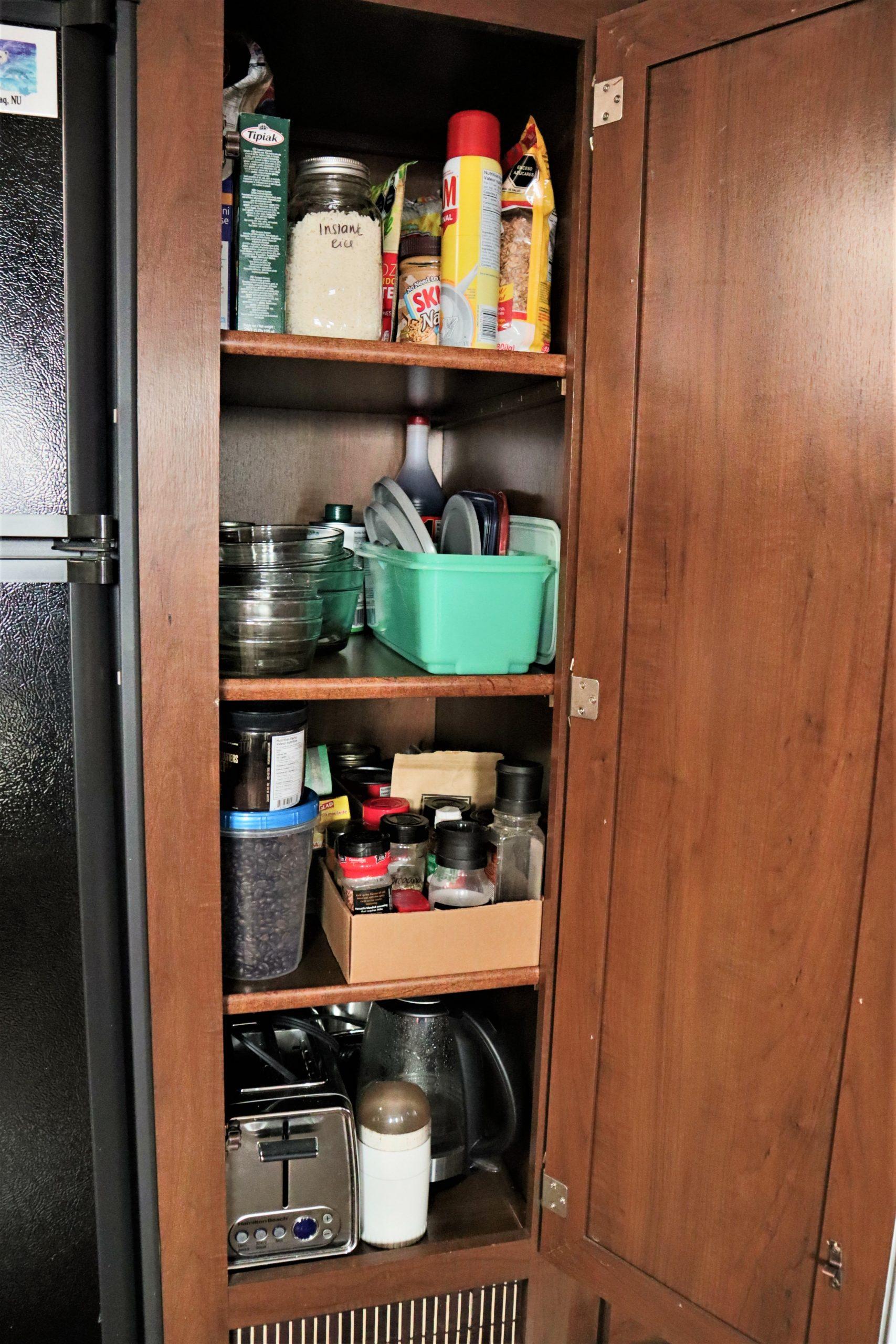 RV pantry storage