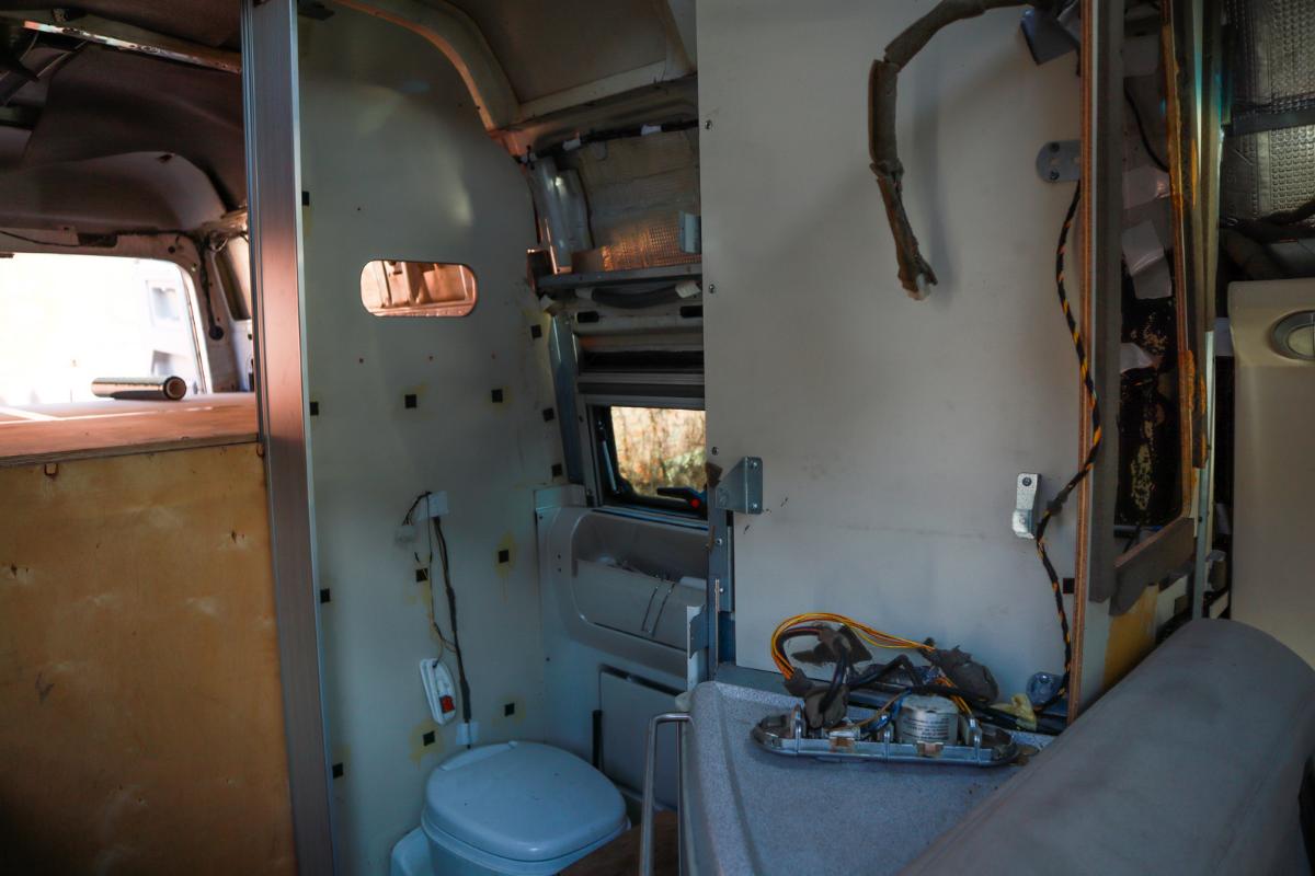 Camper disassembly - camper remodel