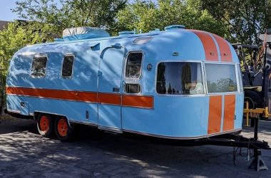one of her unique Airstream renovations