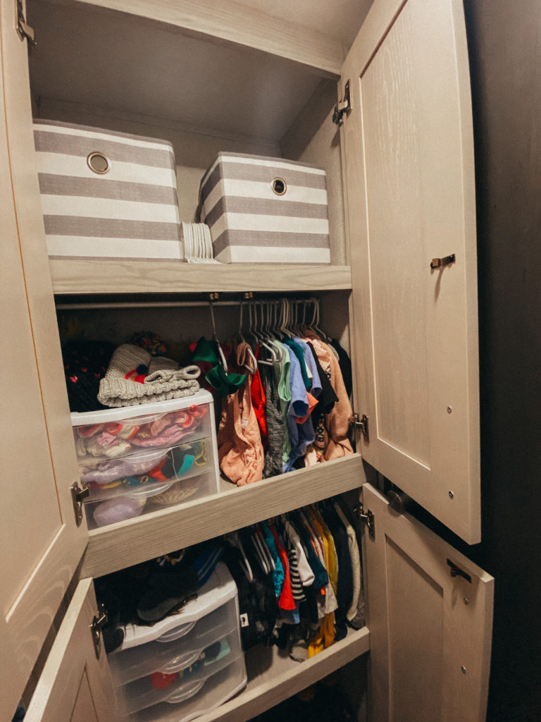 clothing storage in an RV