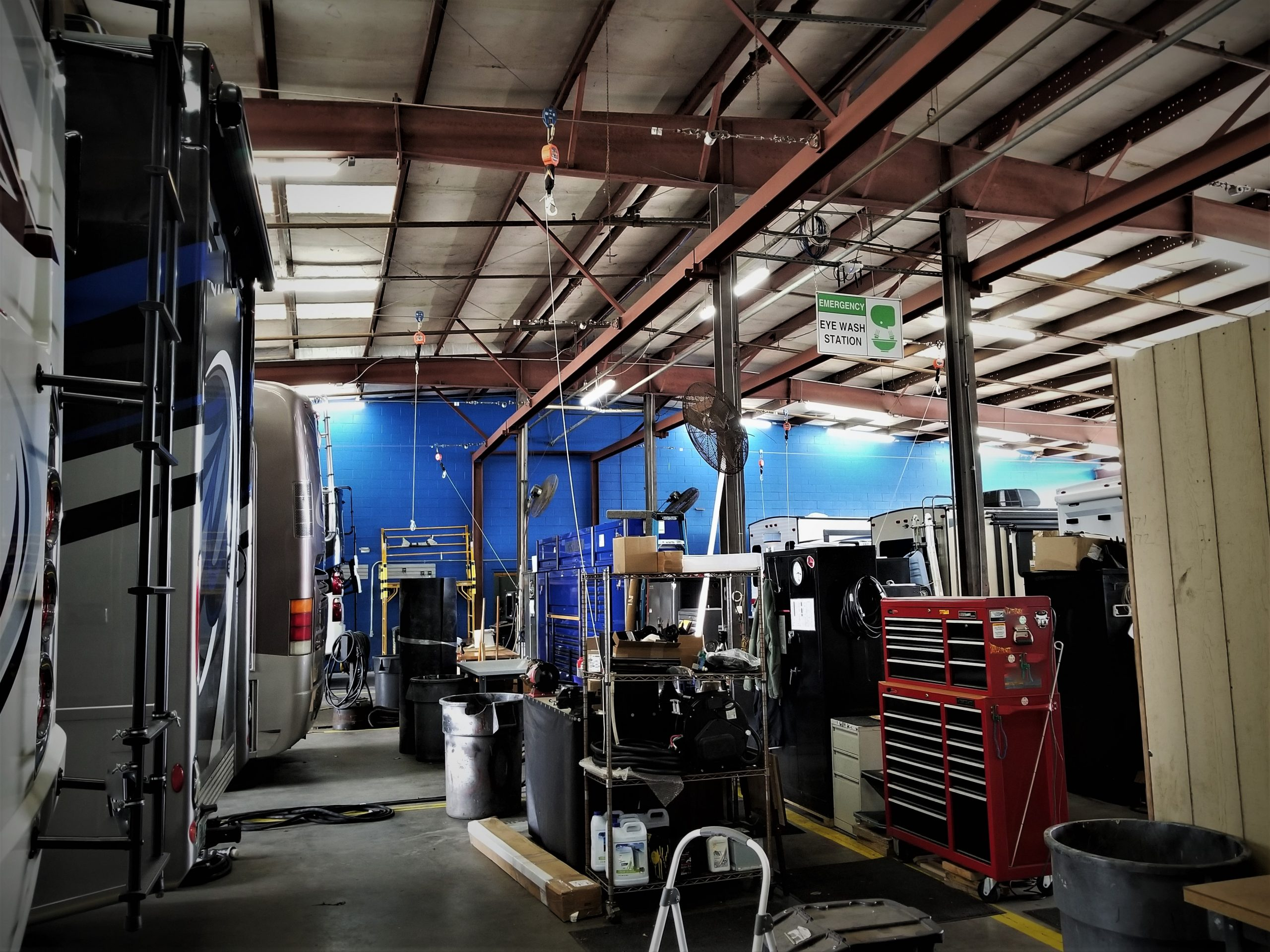 Brazel specializes in RV and truck chassis work, and specialty parts via their websites