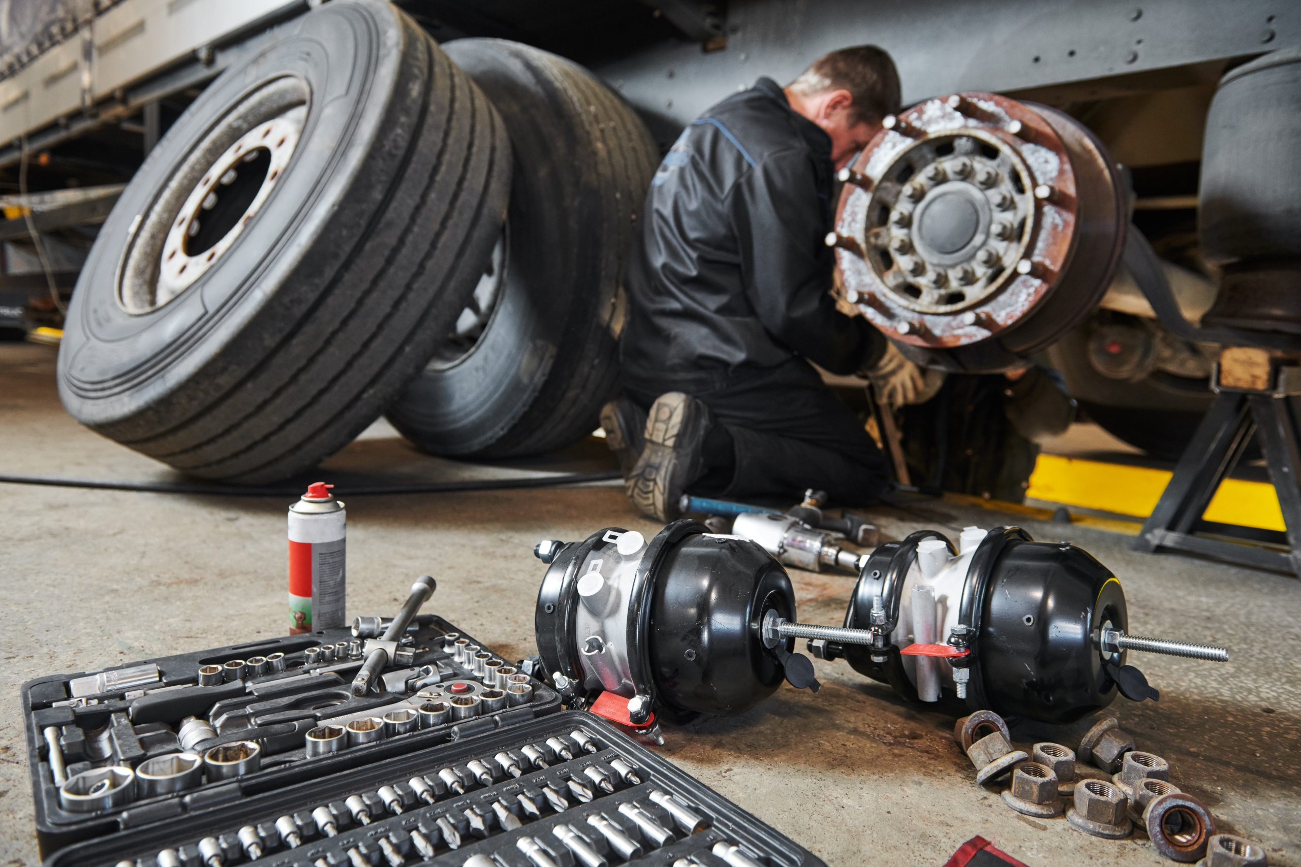 Working on heavy brake systems takes special skill, Brazel's has it.