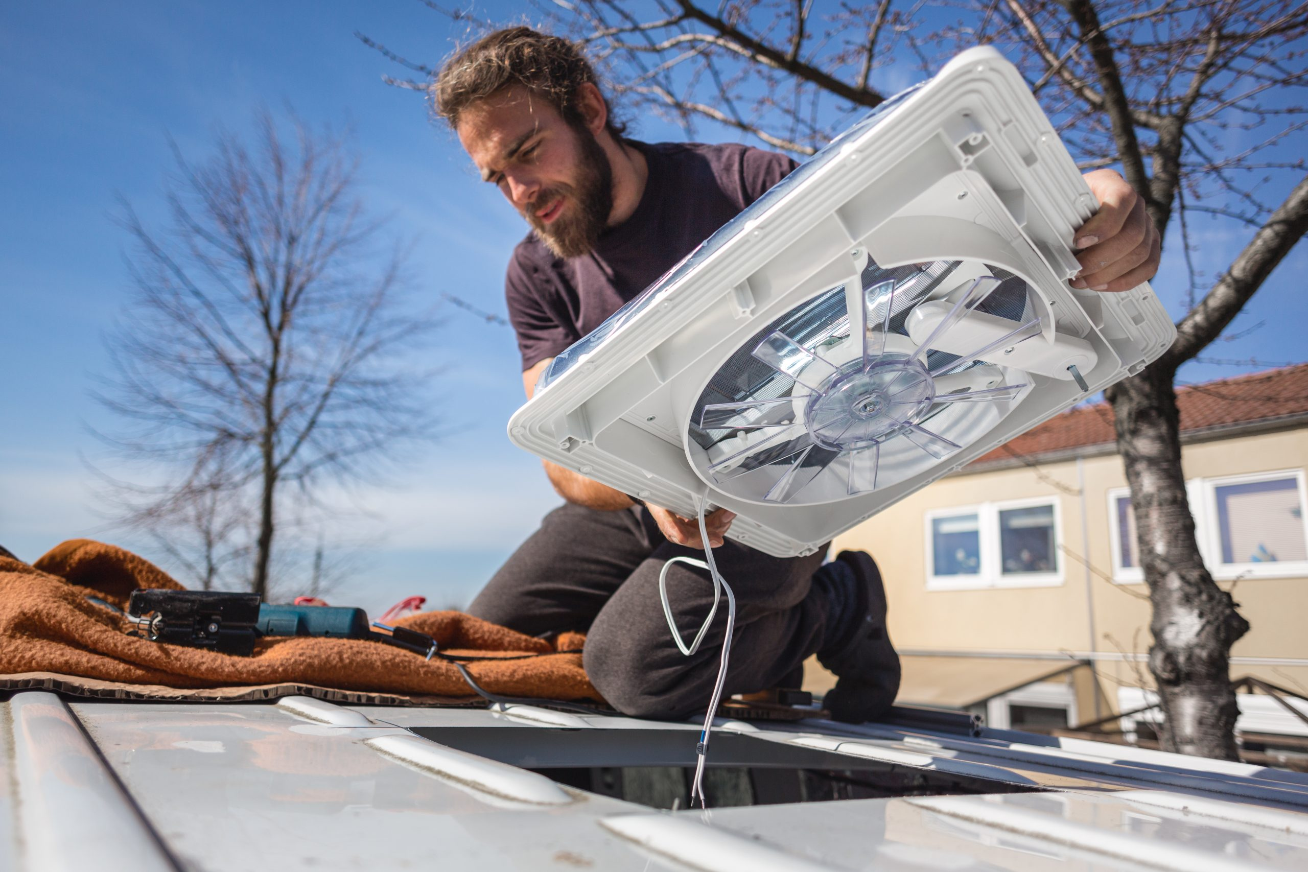 replacing an RV vent cover