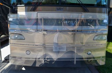 front of RV bug guard