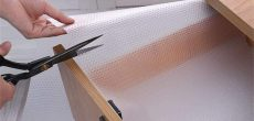 cutting shelf liner for DIY projects