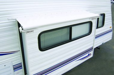 RV slide out topper