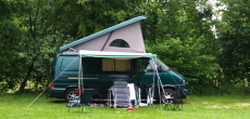 camper van in campsite