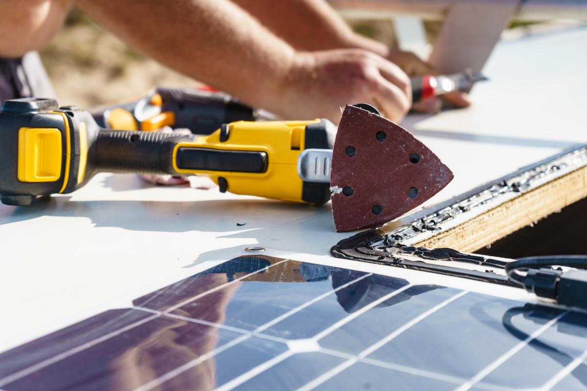 Preparing roof for new skylight - RV skylight