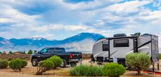 travel trailer at campsite - travel trailer repairs