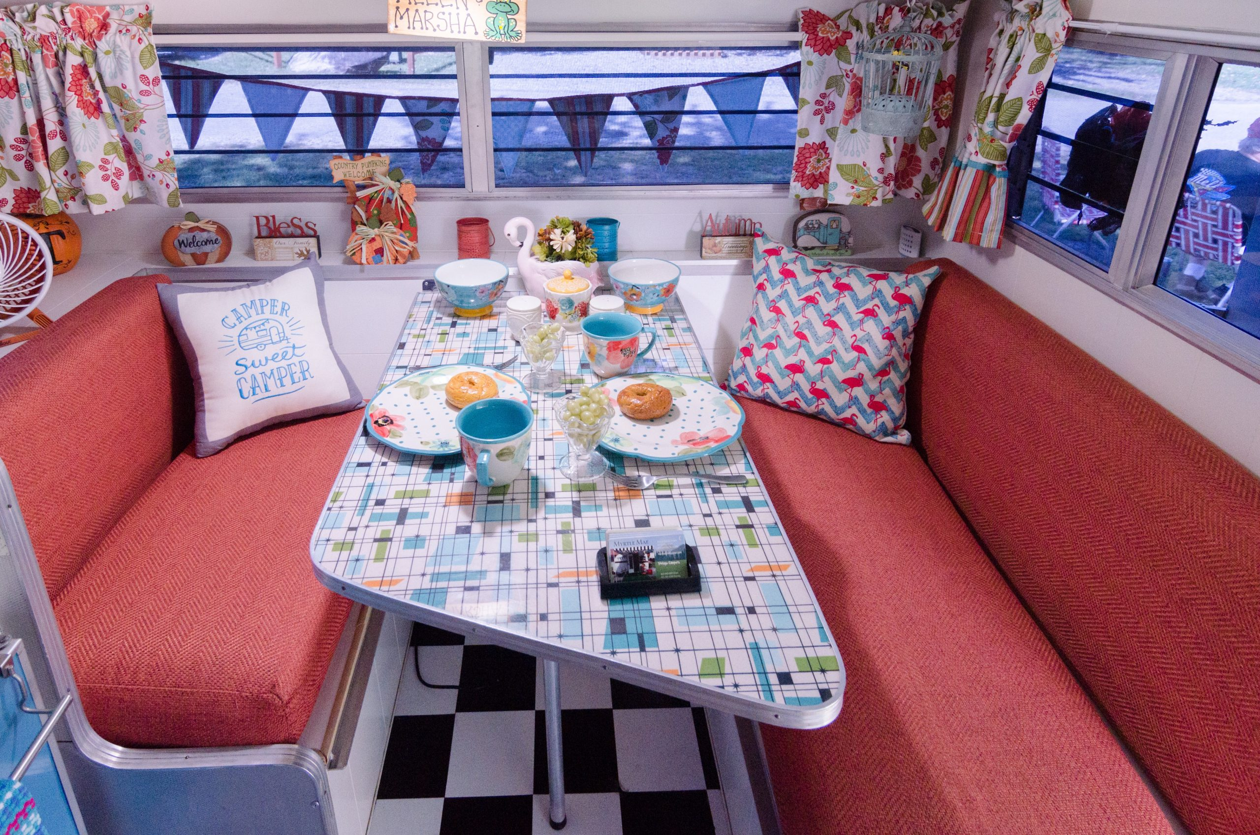 Remodeled RV dining area