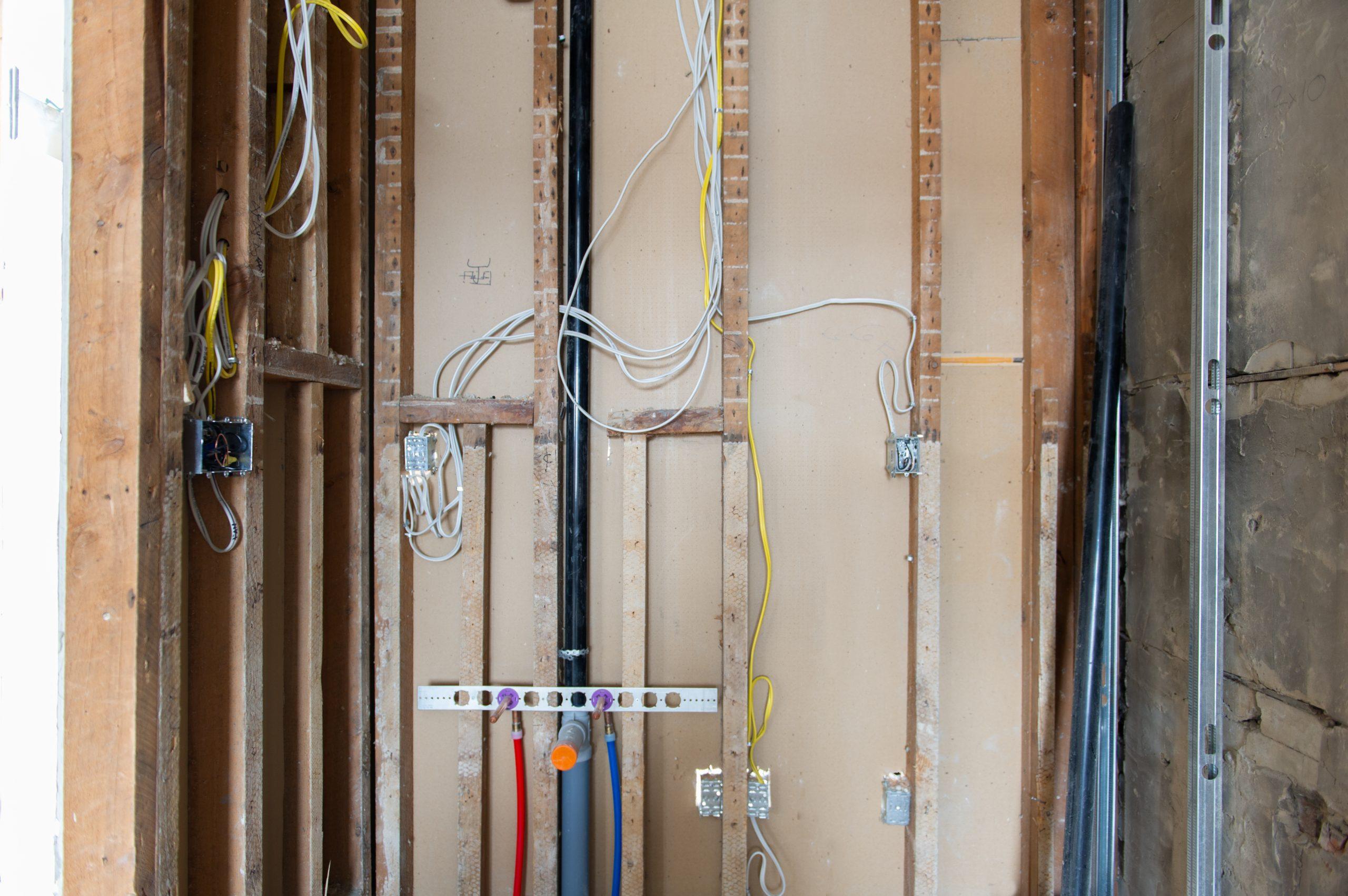 interior of RV renovation