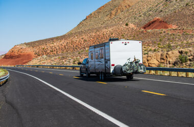 trailer being towed with cheap camper insurance