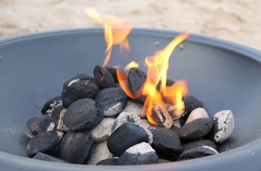 outdoor portable fire pit with flame