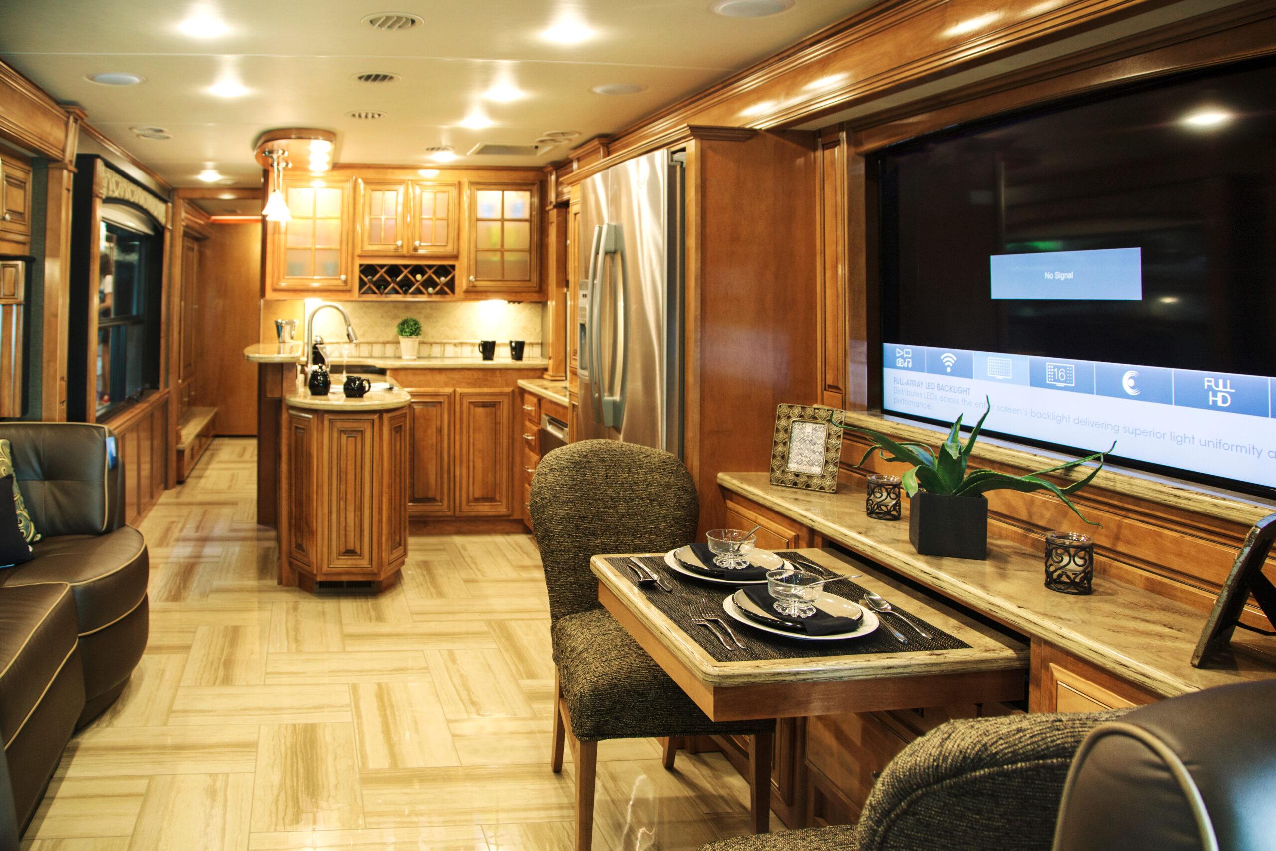 interior of motorhome for RV renovation ideas