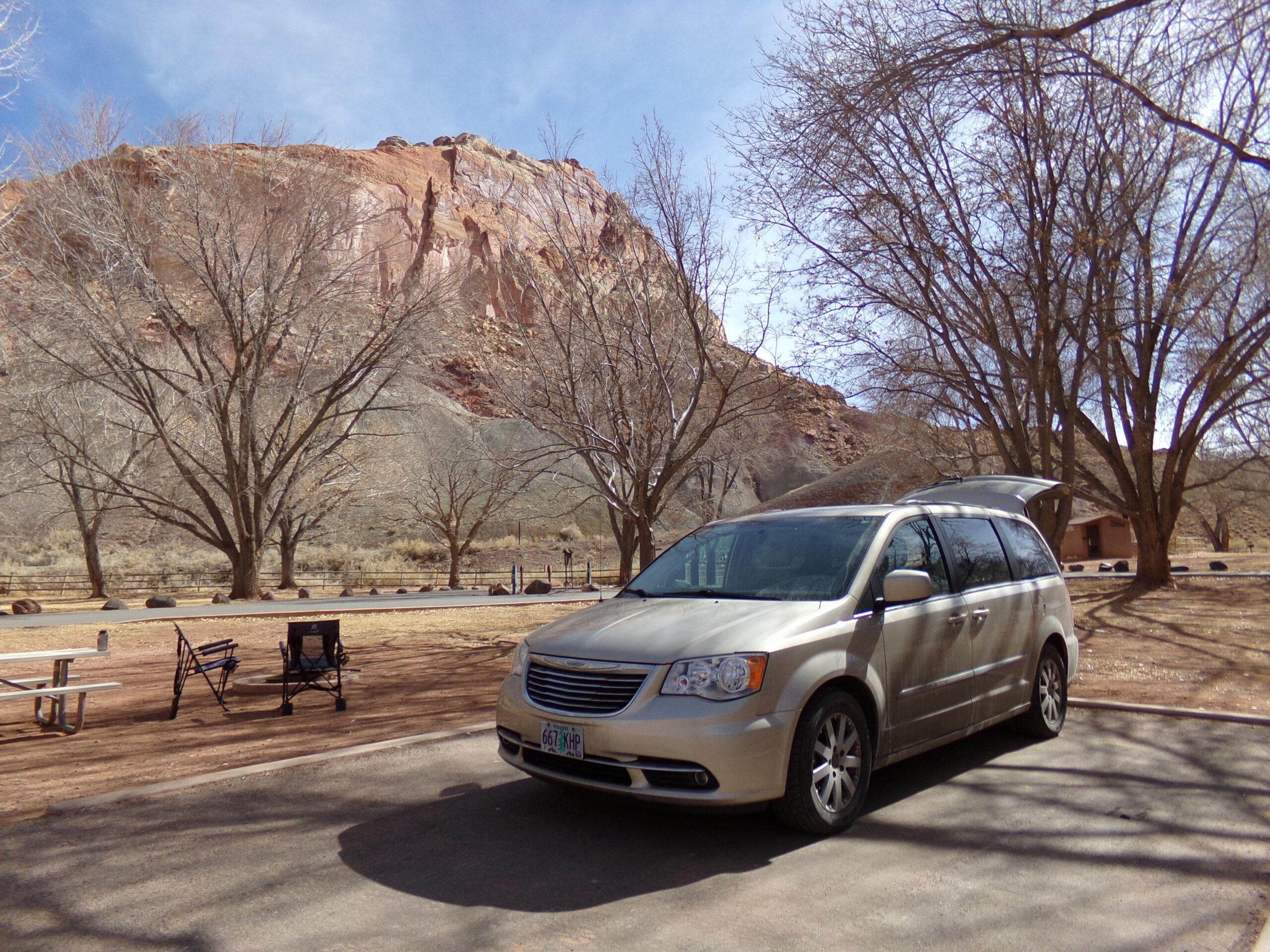 minivan camper in Utah